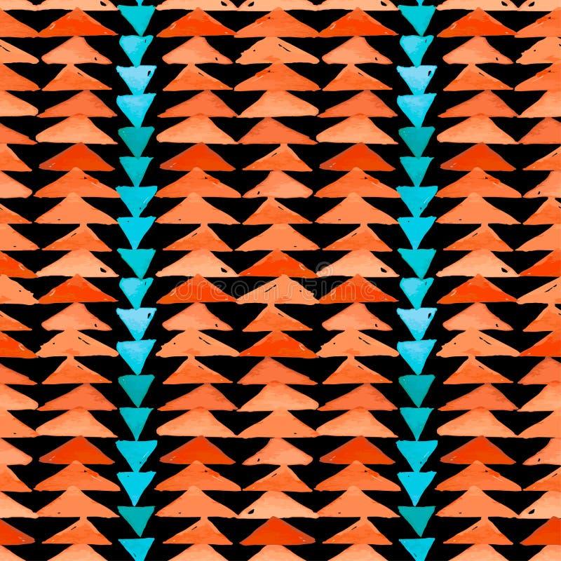 Da inspiração asteca de matéria têxtil do Navajo teste padrão sem emenda Americ nativo ilustração royalty free