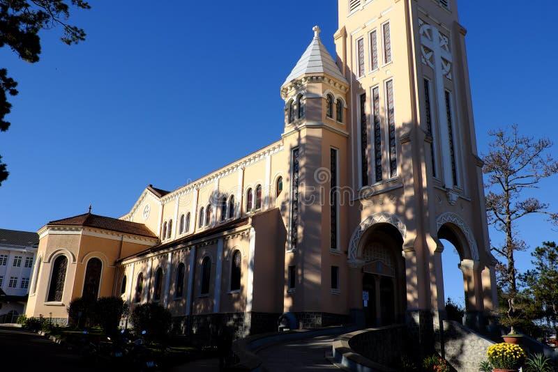 DA-Lat-Kathedrale, Hühnerkirche, Hahnkirche stockfotografie