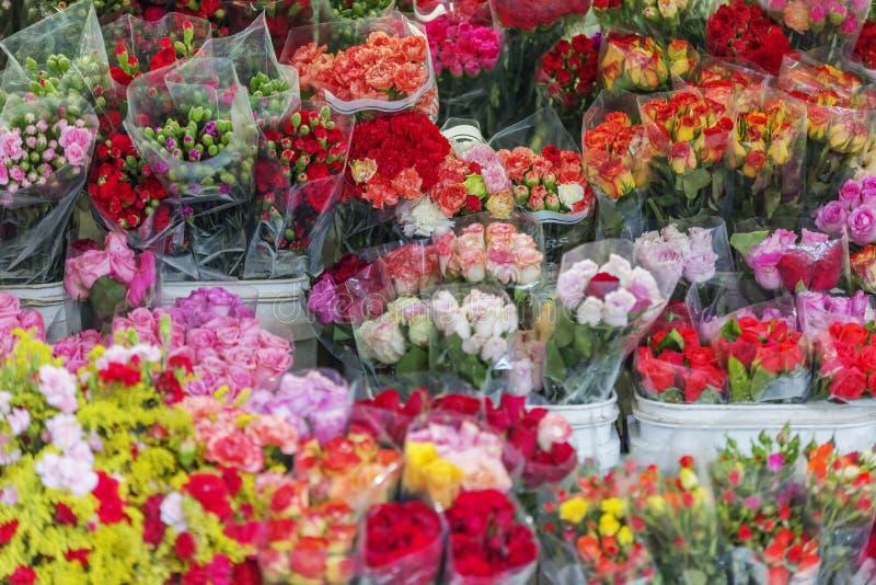 Da Lat market, Da Lat city, Lam province, Vietnam. Flower stall in Da Lat market, Da Lat city, Lam province, Vietnam. Da Lat is called the city of flower. Dalat stock images