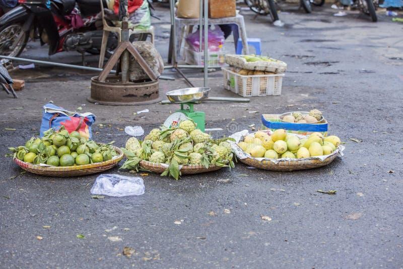 Da Lat market, Da Lat city, Lam province, Vietnam. Fruit stall in Da Lat market, Da Lat city, Lam province, Vietnam. Da Lat is called the city of flower. Dalat royalty free stock photo
