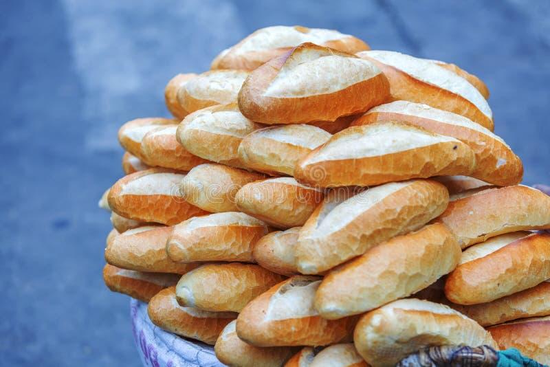 Da Lat market, Da Lat city, Lam province, Vietnam. Hot and crispy breads in Da Lat market, Da Lat city, Lam province, Vietnam. Da Lat is called the city of royalty free stock photos
