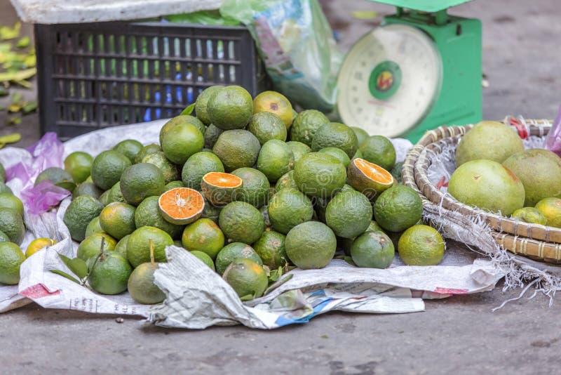 Da Lat market, Da Lat city, Lam province, Vietnam. Orange in fruit stall in Da Lat market, Da Lat city, Lam province, Vietnam. Da Lat is called the city of stock image
