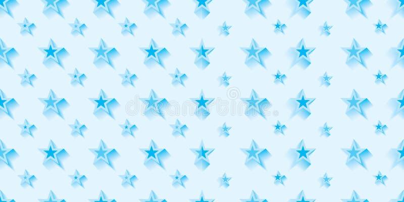 Da liga azul fria da simetria da estrela teste padrão sem emenda ilustração stock