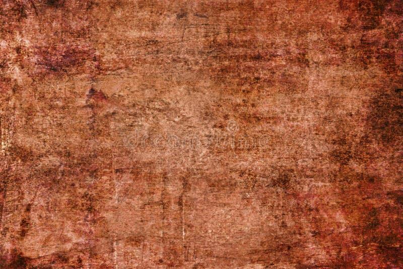 Da lona alaranjada vermelha escura de Brown amarelo Rusty Distorted Decay Old Abstract do Grunge teste padrão de pintura Autumn B imagem de stock