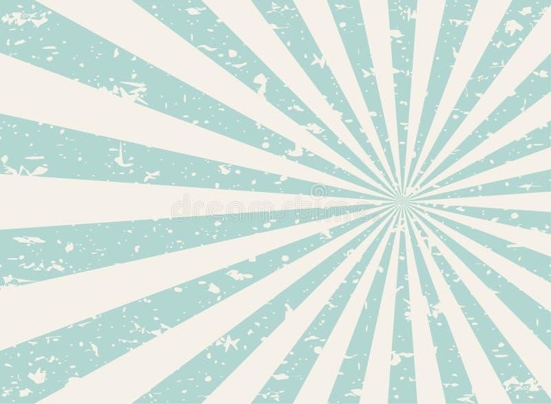 Da luz solar fundo desvanecido retro do grunge largamente fundo verde e bege da explosão de cor ilustração royalty free