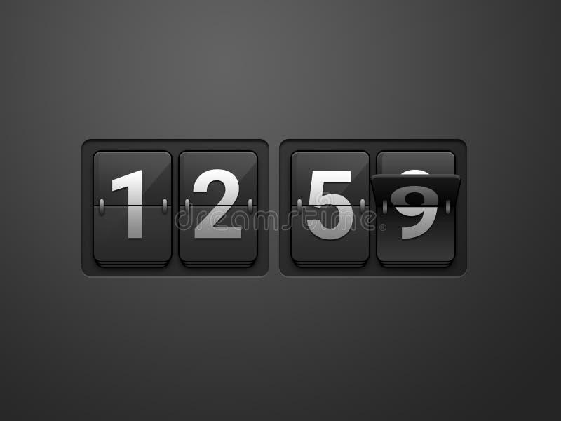 12:59 da mostra do pulso de disparo da aleta ilustração royalty free