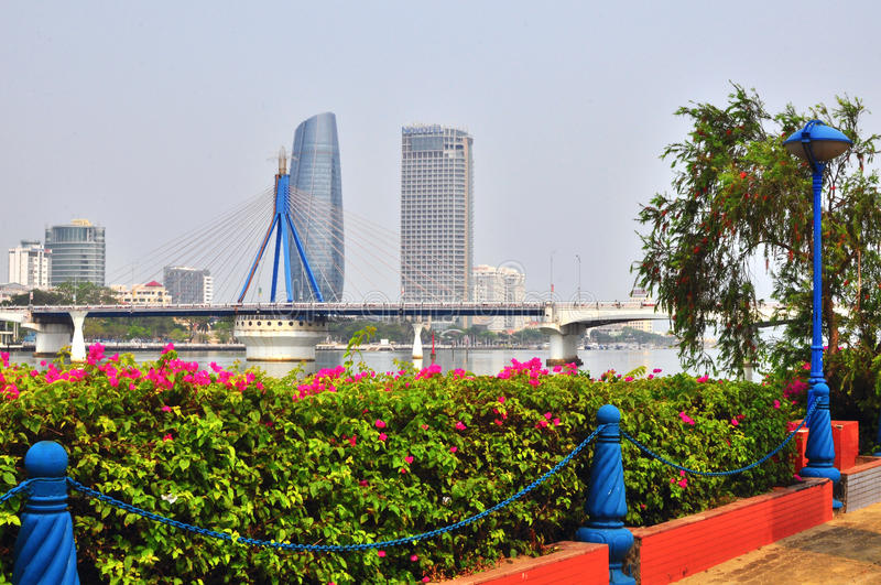 Da Nang downtown, Vietnam royalty free stock images