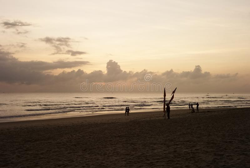 Da Nang My Khe Beach Sunrise fotografia de stock royalty free