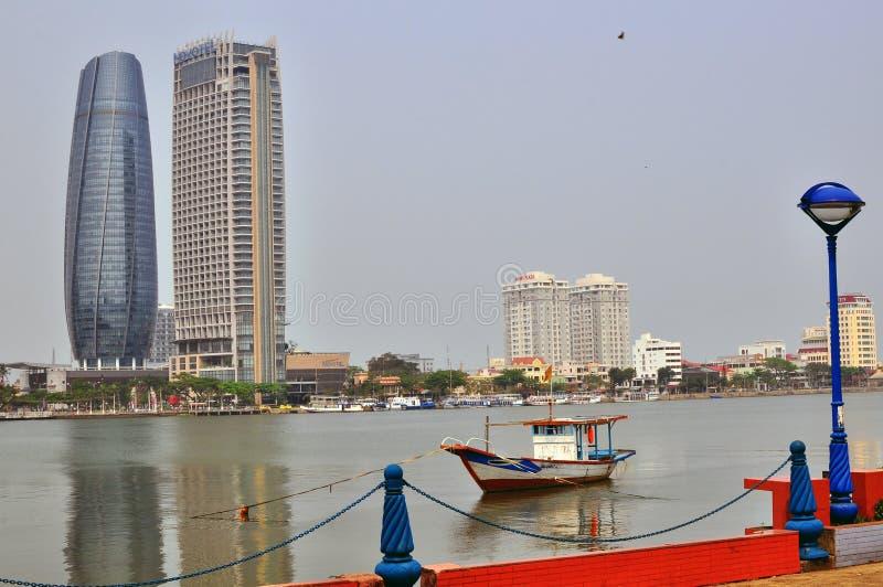 Da Nang skyline, Vietnam royalty free stock images