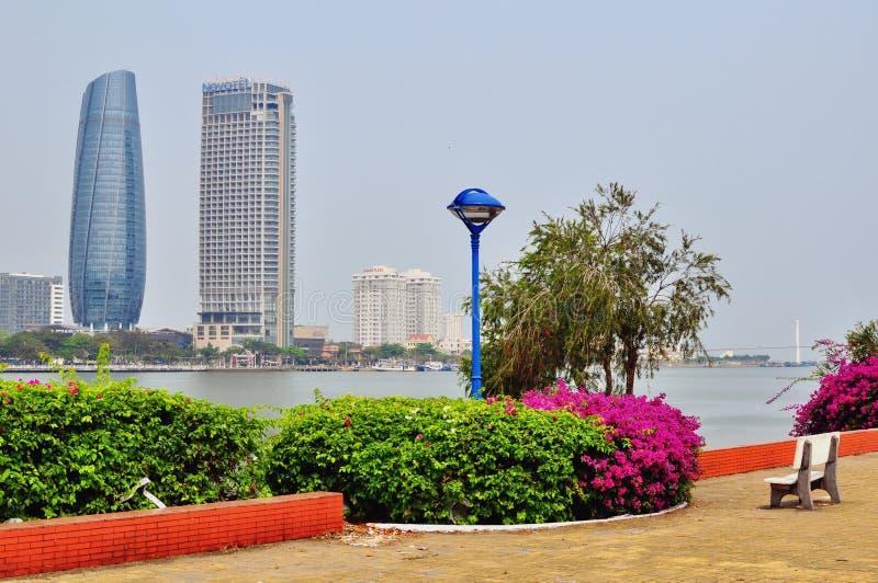 Da Nang skyline, Vietnam royalty free stock photos