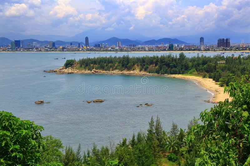 DA NANG - VIET NAM. DA NANG The city is in the site of the East Sea and Han River with special different charms. Nature has offered the city a great position royalty free stock image