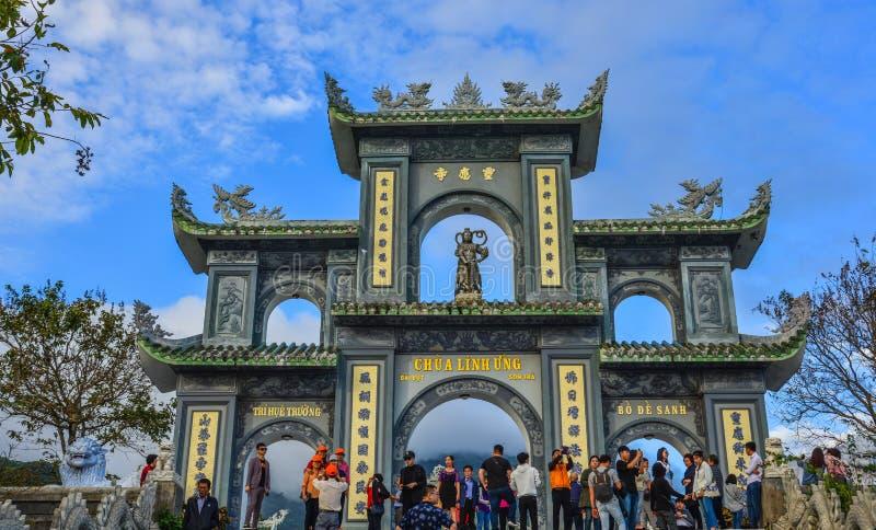 Linh Ung Pagoda in Da Nang, Vietnam. Da Nang, Vietnam - Jan 18, 2019. View of Linh Ung Pagoda in Da Nang, Vietnam. Buddhism in Vietnam is mainly of the Mahayana royalty free stock photos