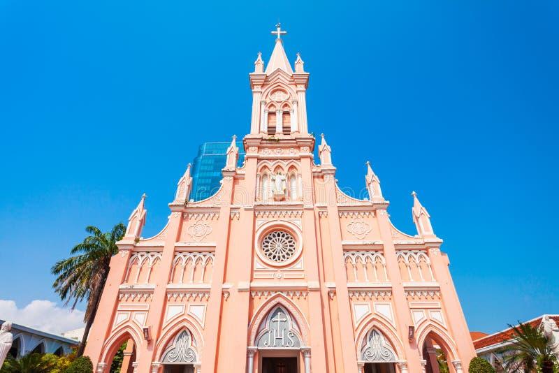 Da Nangkathedraal in Vietnam stock afbeelding