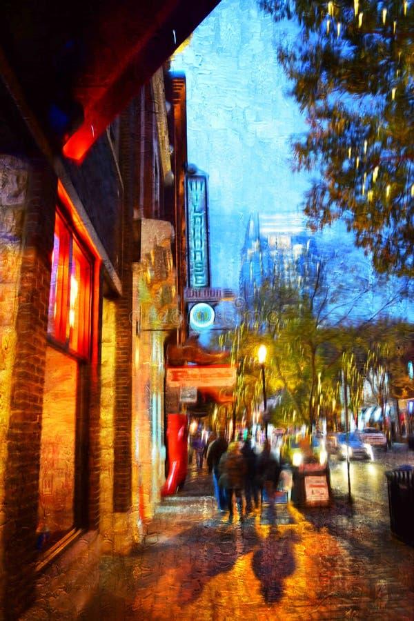 2da noche de la avenida imagen de archivo libre de regalías