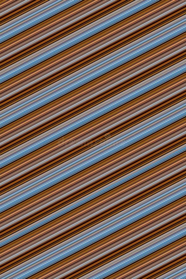 Da paralela azul cinzenta oblíqua marrom das listras da textura site cremoso com nervuras do projeto da base do fundo ilustração stock