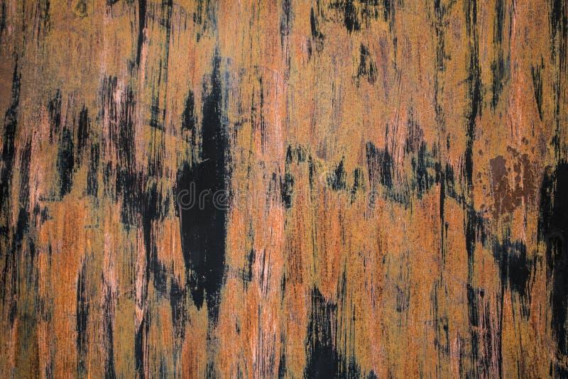 Da parede oxidada velha do metal do close-up textura bonita do teste padrão fotos de stock