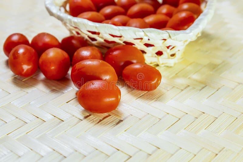 Da pizza básica vermelha dos molhos do ingrediente da cereja dos tomates do grupo fresco delicioso imagens de stock