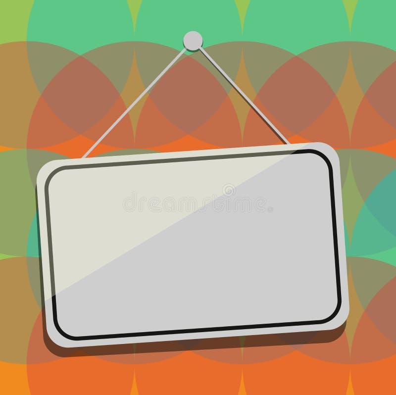 Da placa abstrata moderna vazia do fundo do espaço da cópia do conceito do negócio do projeto Signage de suspensão da janela da p ilustração royalty free