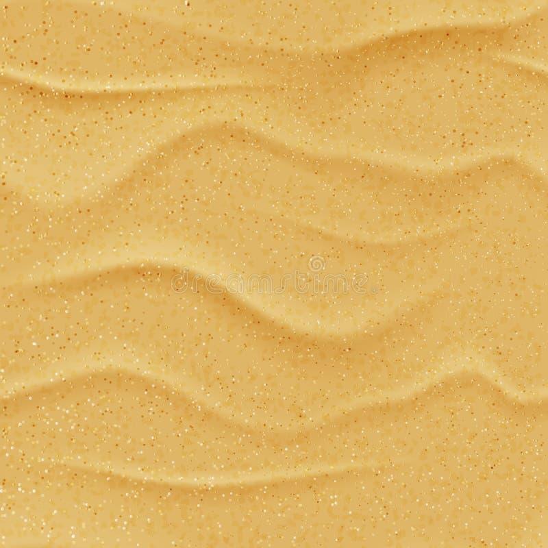 Da praia amarela da areia do vetor textura sem emenda Fundo abstrato da natureza do verão Ilustração realística da duna do desert ilustração stock