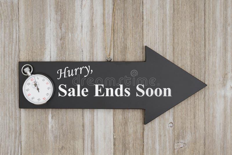 Da pressa da venda das extremidades sinal logo foto de stock royalty free