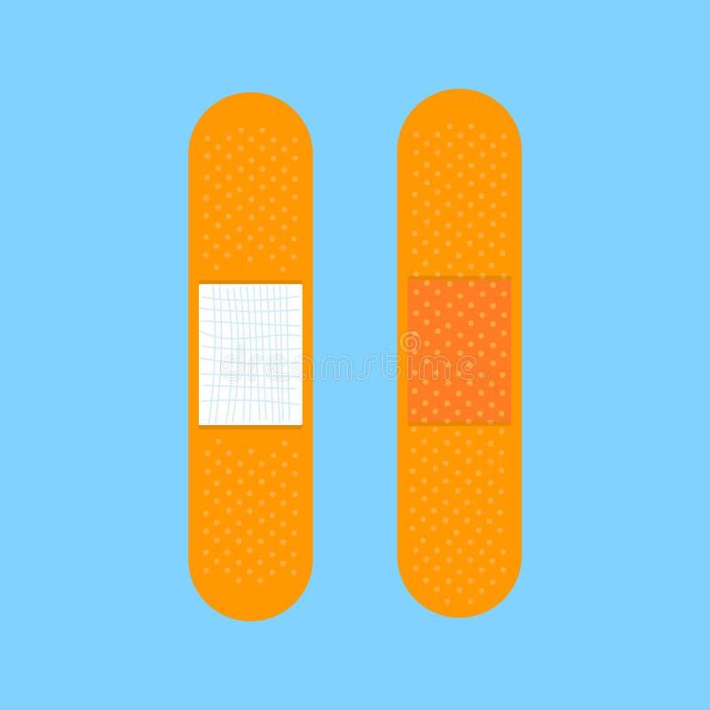 Da proteção médica do auxílio do emplastro do remendo da atadura ilustração lisa do vetor do projeto do estilo ilustração do vetor