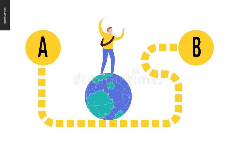 Da punto A per indicare B illustrazione vettoriale