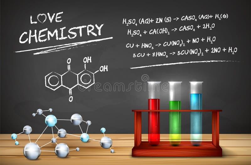 Da química vida ainda ilustração royalty free