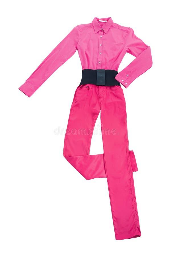 Da sarja de Nimes composição cor-de-rosa da forma da vida ainda fotografia de stock royalty free