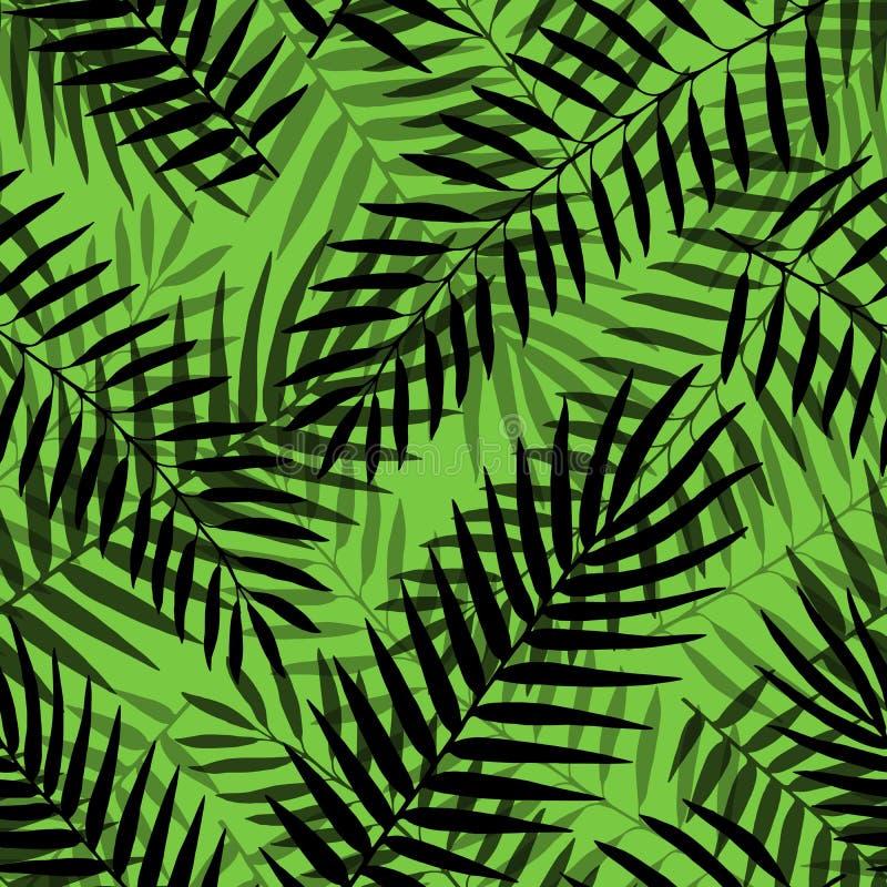 Da selva sem emenda tropical do teste padr?o das folhas de palmeira do vetor fundo decorativo floral ilustração stock