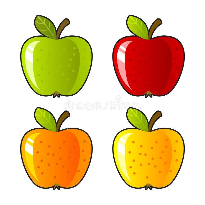 Da solo, dieta luminosa del dessert di colore del fondo della mela illustrazione vettoriale