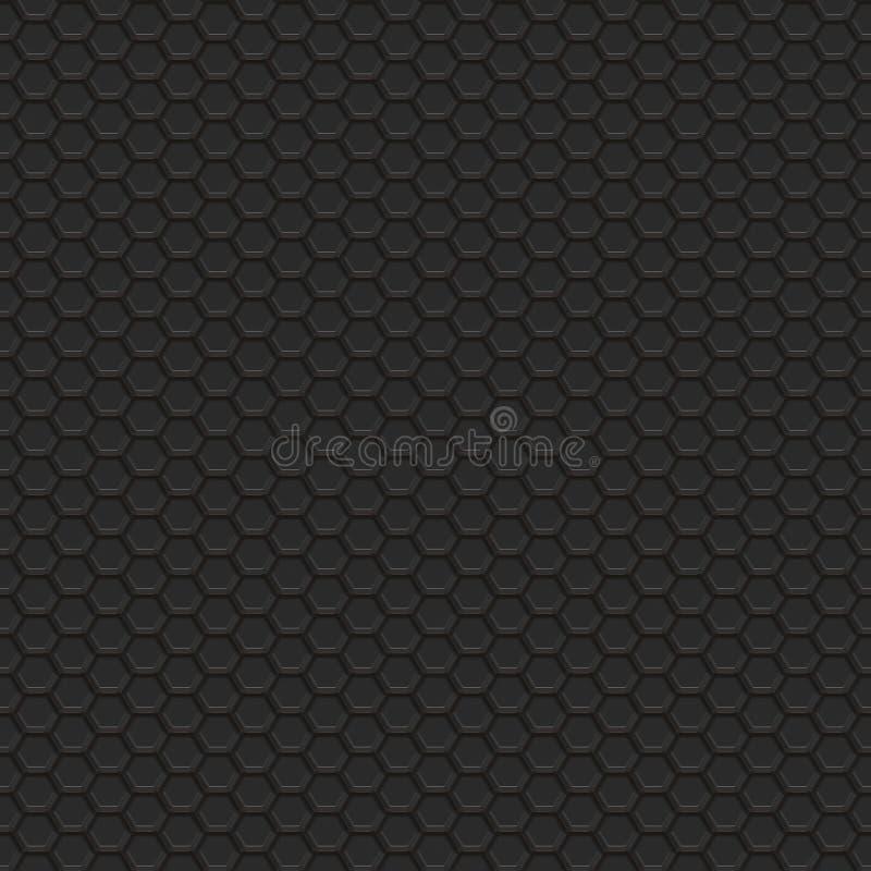 Da textura sextavada da grade da tecnologia teste padrão quadrado sem emenda ilustração do vetor