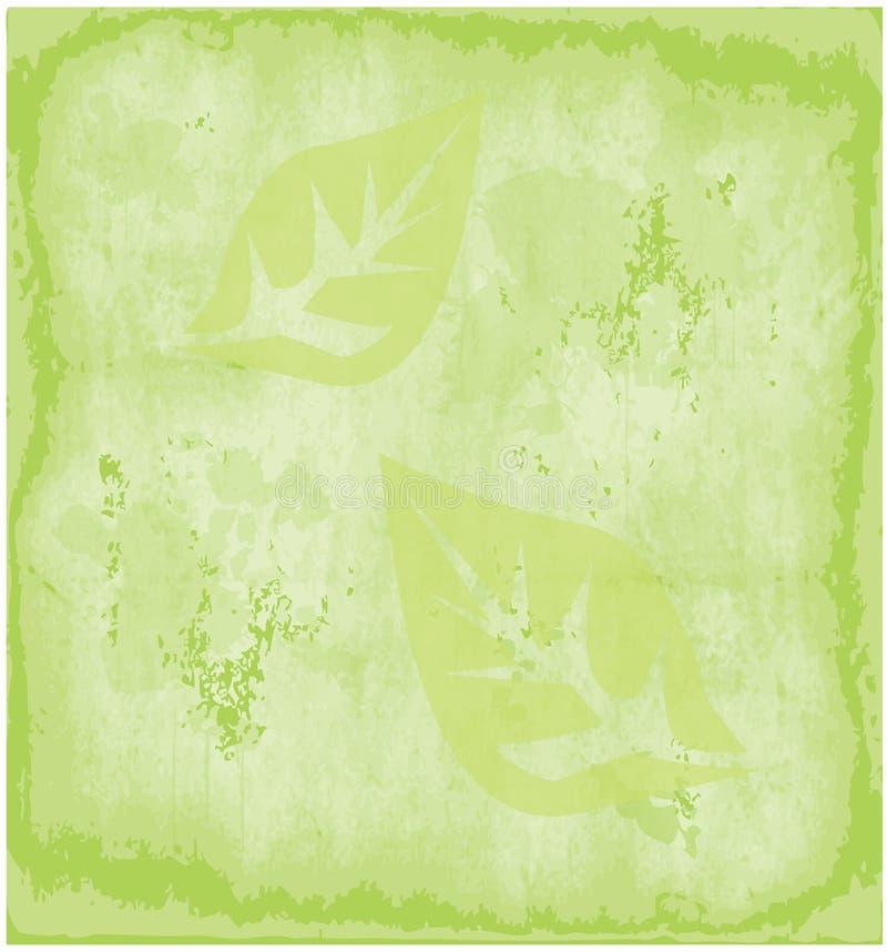 Da textura verde do papel do Grunge de Eco fundo velho ilustração stock