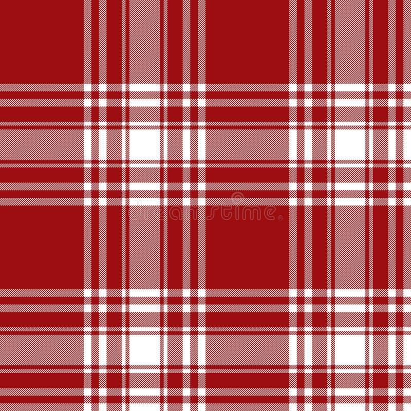 Da textura vermelha da tela da saia do kilt da tartã de Menzies teste padrão sem emenda ilustração royalty free