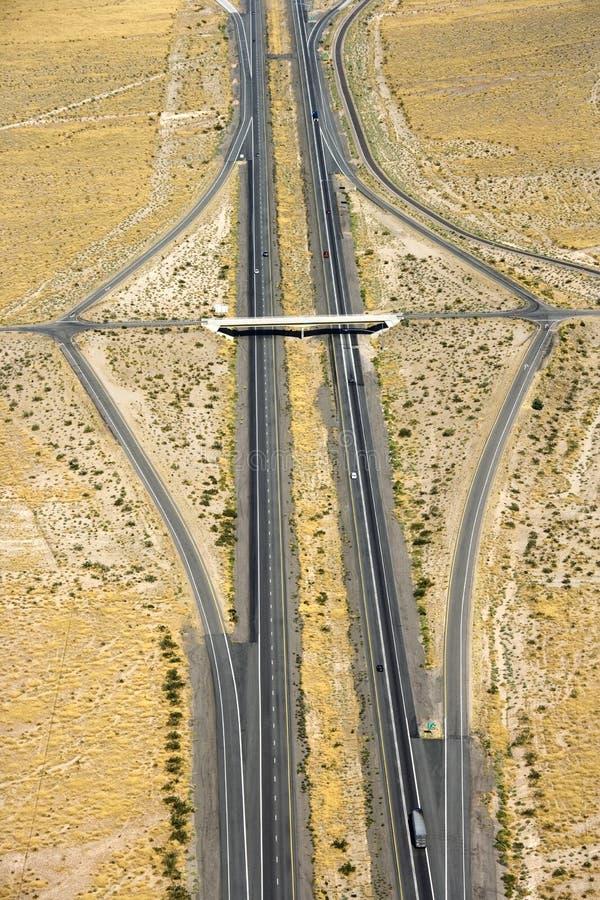 Da uno stato all'altro in deserto. fotografie stock libere da diritti