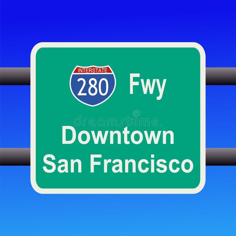 Da uno stato all'altro a San Francisco illustrazione di stock