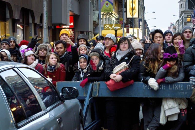 Da véspera anos novos do Times Square da multidão fotografia de stock