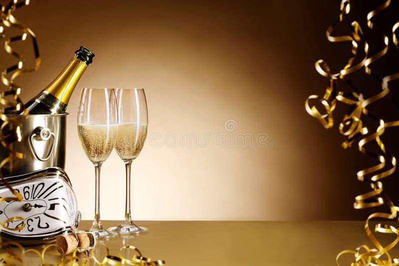 Da véspera do partido anos novos do fundo da celebração fotografia de stock royalty free