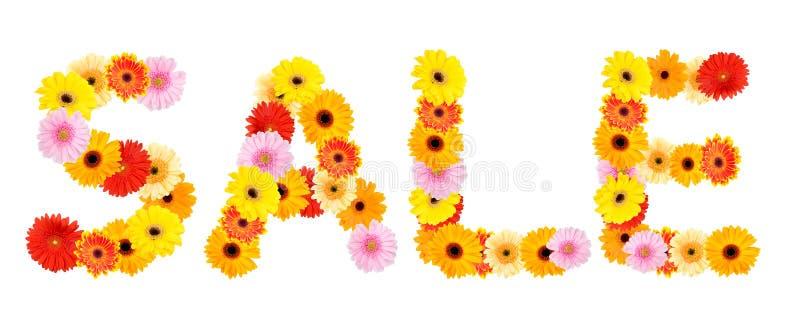 ` Da venda do ` da inscrição feito das flores ilustração stock