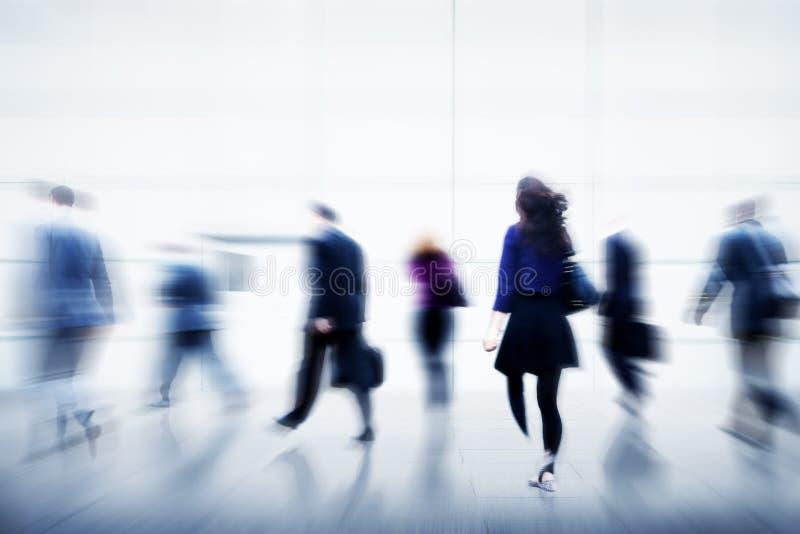 Da vida urbana da convicção da pressa executivos do conceito da ocupação foto de stock royalty free