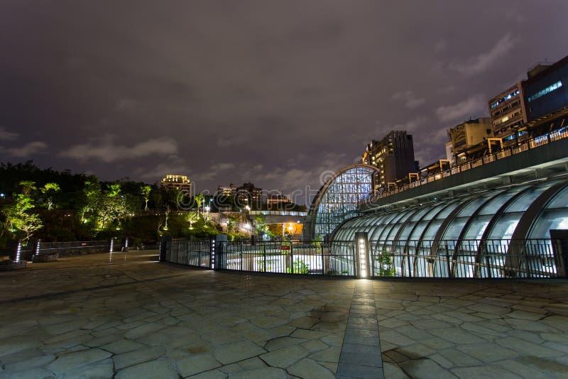 Daan Park-MRT de mening van de postnacht stock afbeeldingen