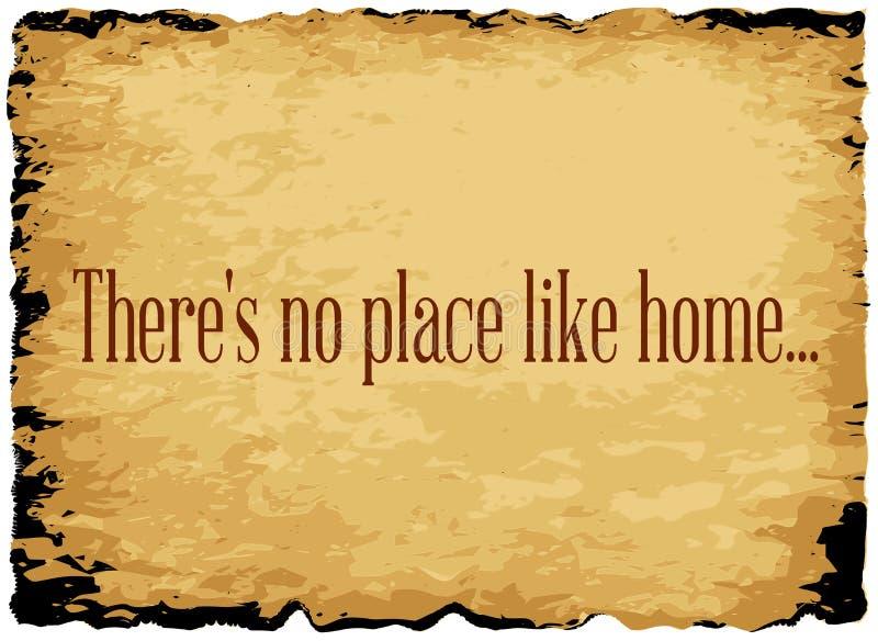 Daar ` s geen plaats zoals huis vector illustratie