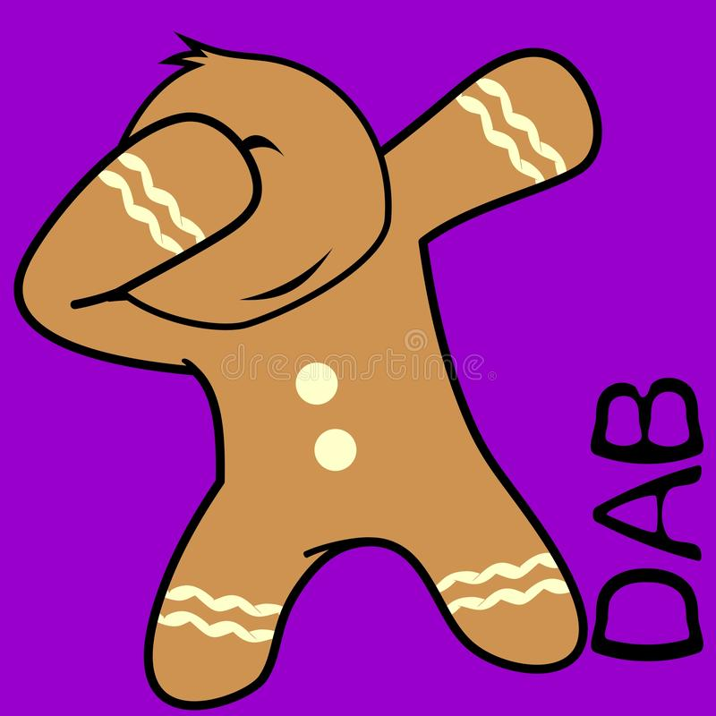 Dab dabbing pose ginger bread cookie kid cartoon. In vector format very easy to edit vector illustration