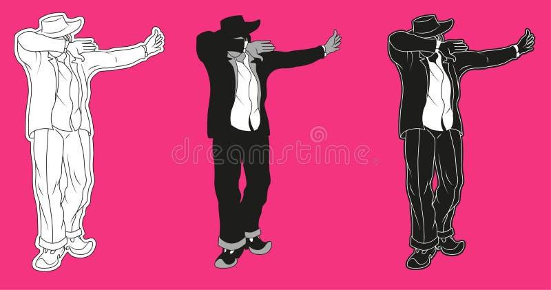Dab gesture dance vector illustration