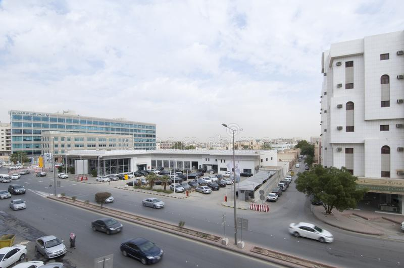 Dabab Steet Cars Traffic in Old Riyadh City, Saudi Arabia 01.1 royalty free stock image