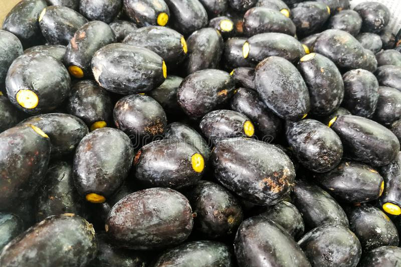 The Dabai fruit, known as Sibu olive, indigenous to Sarawak. The Dabai fruit also known as Sibu olive or Ka Lang in Foochows is indigenous to Sarawak and found stock photography