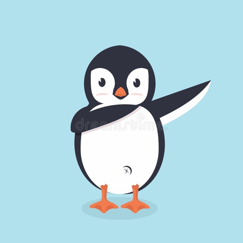 Dabbing pingwin kreskówki wektor royalty ilustracja