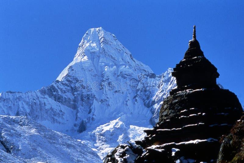 dablam Гималаи ama стоковые изображения rf