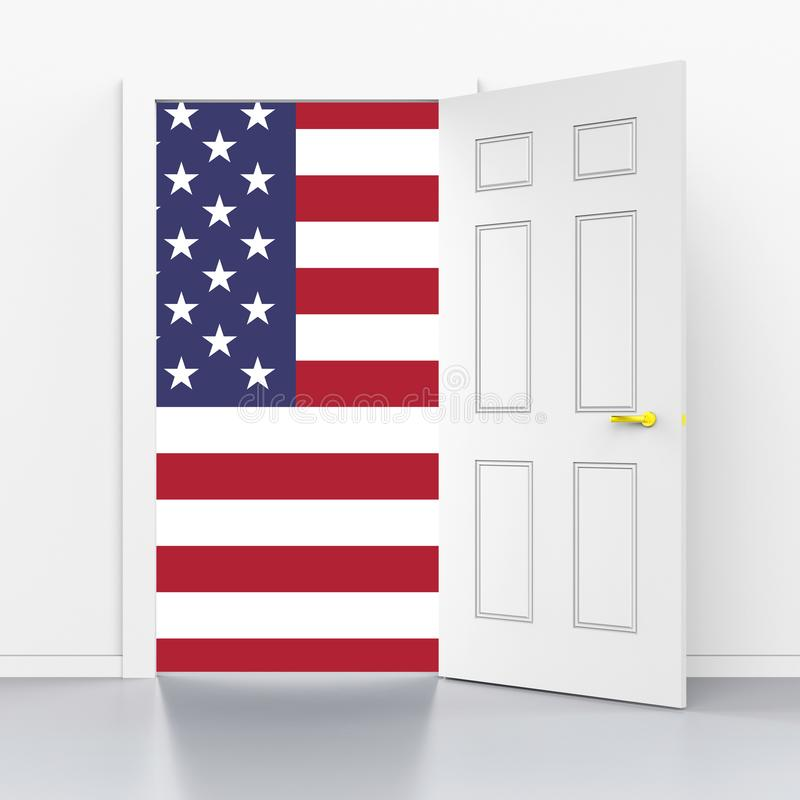 Daca孩子我们的梦想家立法移民- 3d例证 库存例证