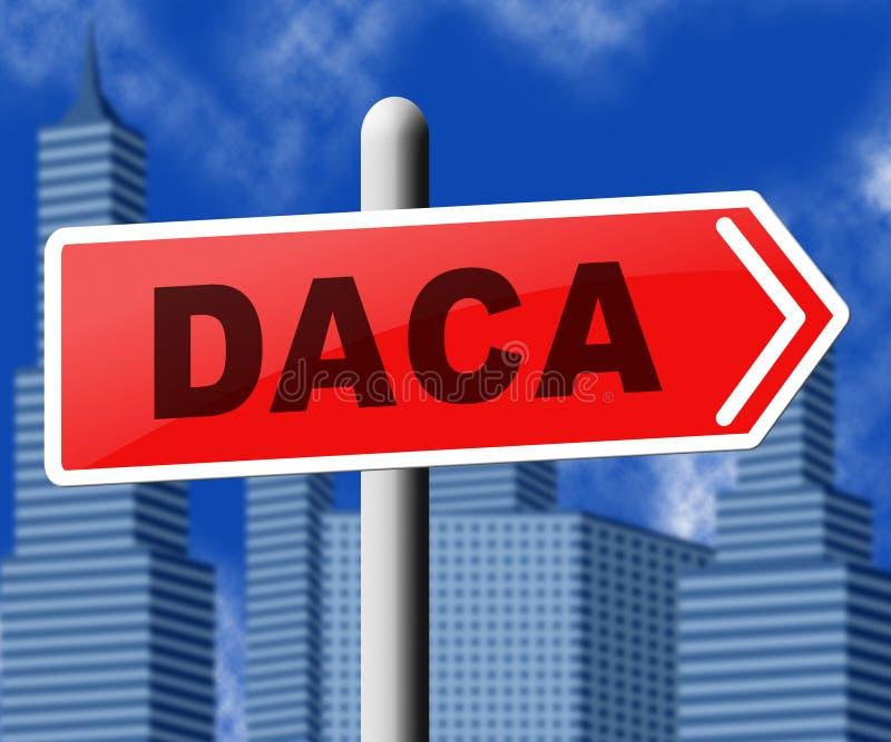 Daca孩子我们的梦想家立法移民- 3d例证 向量例证