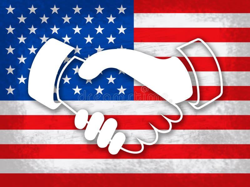 Daca embroma las manos de la legislación del soñador para nosotros inmigración - 2.o ejemplo ilustración del vector